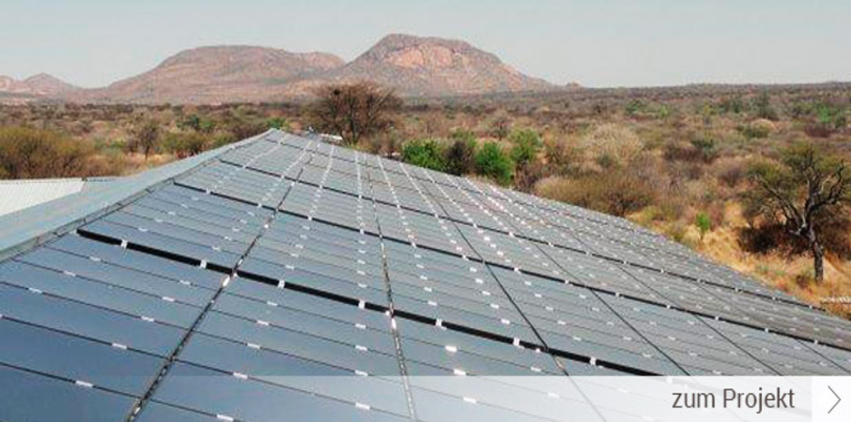 Industrielle DachanlageErongo MountainsNamibia51 kWp