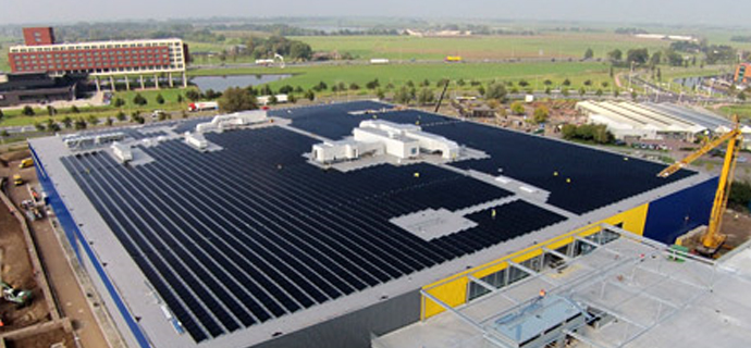 Swedish furniture giant becomes self-consumer with a 900 kW PV plantWith CO2 savings of 480 tonnes per year the 5,500 PowerModules provide for a green footprint